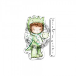 (PD7858)Polkadoodles Little Dudes Dragon Dress Up Clear Stamps