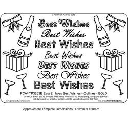 EMBOSSING EasyEmboss 'Best Wishes' Outlines - BOLD