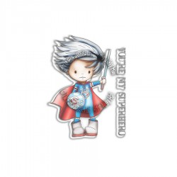 (PD7862)Polkadoodles Little Dudes Superhero Clear Stamps
