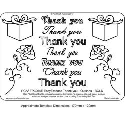 EMBOSSING EasyEmboss 'Thank You' Outlines - BOLD