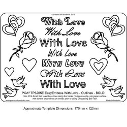 EMBOSSING EasyEmboss 'With Love' Outlines - BOLD