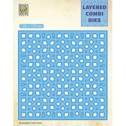 (LCDF002B)Nellie's Layered Combi Dies Flower Layer B