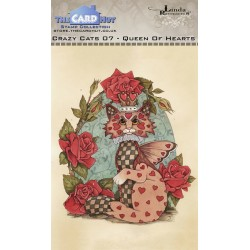 (LRCC007)The Card Hut Crazy Cats Queen of Hearts Clear Stamps