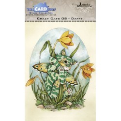 (LRCC008)The Card Hut Crazy Cats Daffy Clear Stamps