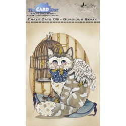 (LRCC009)The Card Hut Crazy Cats Gorgious Gerty Clear Stamps