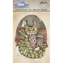 (LRCC010)The Card Hut Crazy Cats Grumpy Guss Clear Stamps