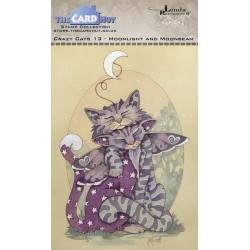 (LRCC013)The Card Hut Crazy Cats Moonlight & Moonbeam Clear Stamps