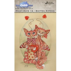 (LRCC016)The Card Hut Crazy Cats Smitten Kittens Clear Stamps