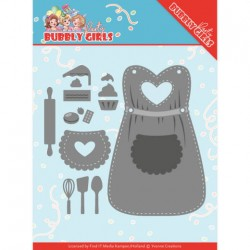 (YCD10201)Dies - Yvonne Creations - Bubbly Girls Party – Apron