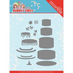(YCD10202)Dies - Yvonne Creations - Bubbly Girls Party - Birthday Cake