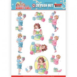 (SB10438)3D Pushout - Yvonne Creations - Bubbly Girls - Party - Decorating
