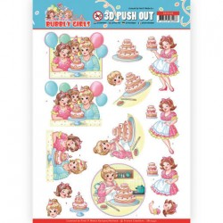 (SB10440)3D Pushout - Yvonne Creations - Bubbly Girls - Party - Baking