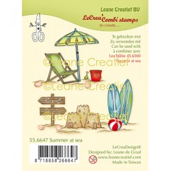 (55.6647)Clear Stamp Summer at sea