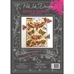(PID001)Pink Ink Designs Clear stamp & dies moth & legends