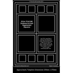 (PCA-TC4118E)Emboss-A-Card Segmented Squares