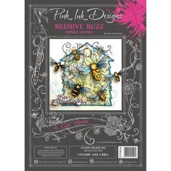 (PID004)Pink Ink Designs Clear stamp & dies beehive buzz