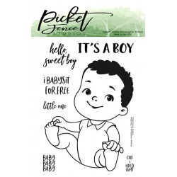 (KIDS-103)Picket Fence Studios Baby Boy of All Seasons Clear Stamps