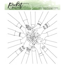 (BFF-110)Picket Fence Studios BFF My Tribe Clear Stamps