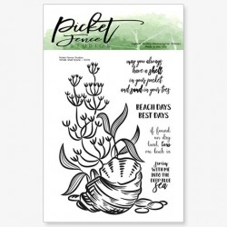 (OC-115)Picket Fence Studios Whelk Shell Scene Clear Stamps