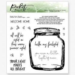 (A-139)Picket Fence Studios Fireflies on a Warm Night Clear Stamps