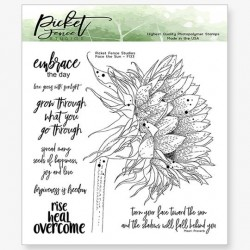 (F-133)Picket Fence Studios Face The Sun Clear Stamps