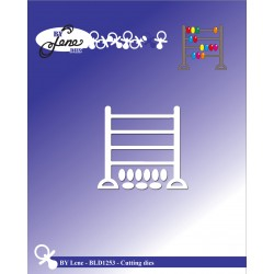 (BLD1253)By Lene Abacus Cutting & Embossing Dies