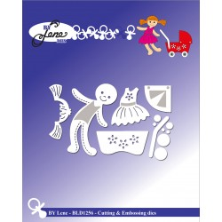 (BLD1256)By Lene Doll Cutting & Embossing Dies