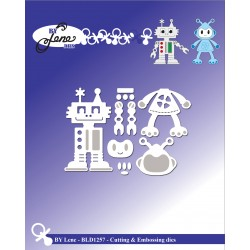 (BLD1257)By Lene Robots Cutting & Embossing Dies