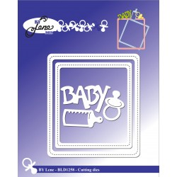 (BLD1258)By Lene Baby Frame Cutting & Embossing Dies