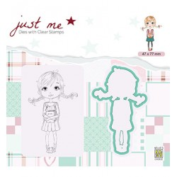 (JMSD002)Nellie's Shape Dies with clear stamp Back to School