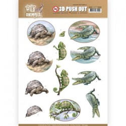 (SB10443)3D Pushout - Amy Design - Wild Animals Outback - Reptiles