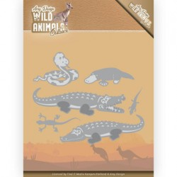 (ADD10206)Dies - Amy Design - Wild Animals Outback - Crocodile
