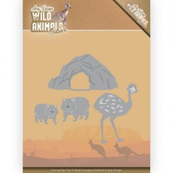 (ADD10207)Dies - Amy Design - Wild Animals Outback - Emu and Wombat