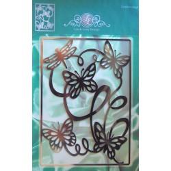 (1201/0073)Lin & Lene stencil background butterfly