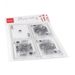 (CS1055)Clear stamp Playing cards