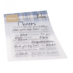 (CS1057)Clear stamp Cheers by Marleen