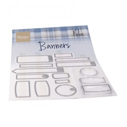 (CS1058)Clear stamp Banners by Marleen