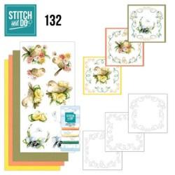 (STDO132)Stitch and Do 132 - Precious Marieke - Delicate Flowers - Birds