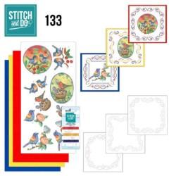 (STDO133)Stitch and Do 133 - Jeanine's Art - Blue Birds