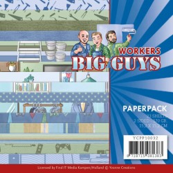(YCPP10032)Paperpack - Yvonne Creations - Big Guys - Workers