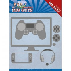 (YCD10205)Dies - Yvonne Creations - Big Guys - It's Game Time