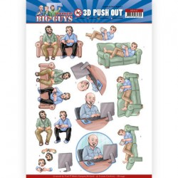 (SB10447)3D Push Out - Yvonne Creations - Big Guys - Workers - Gaming
