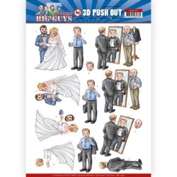 (SB10449)3D Push Out - Yvonne Creations - Big Guys - Workers - Well Dressed