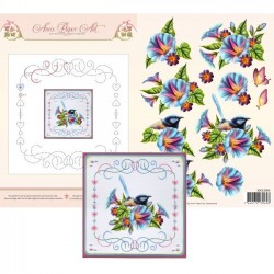 (3DCE2004)3D Card Embroidery Sheet 4 Morning Glory