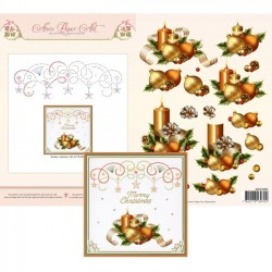 (3DCE2005)3D Card Embroidery Sheet 5 Holiday Decor