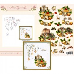 (3DCE2006)3D Card Embroidery Sheet 6 Christmas Gifts