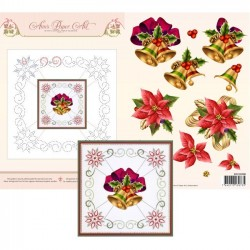 (3DCE2008)3D Card Embroidery Sheet 8 Christmas Bells