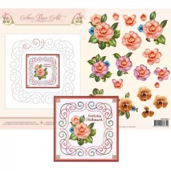 (3DCE2010)3D Card Embroidery Sheet 10 Camellia