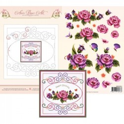 (3DCE2011)3D Card Embroidery Sheet 11 Garden Enchanted