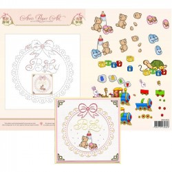(3DCE2015)3D Card Embroidery Sheet 15 Baby Frame